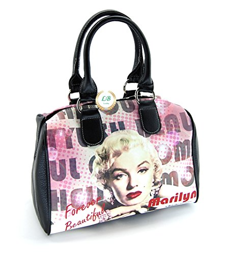 Marilyn Monroe Top Zip Shoulder Bag (Marilyn Monroe Satchel Handbag, Forever Beautiful Purse)