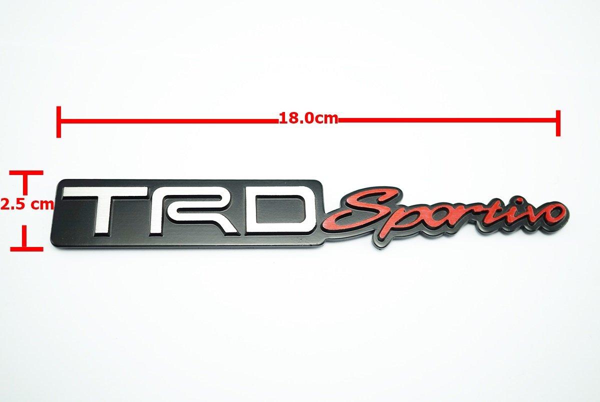 TRD Sportivo Metal Logo Emblem size 18x2.5cm