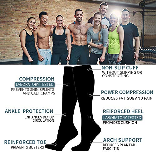 Compression Socks for Women and Men - Best Medical,for Running,Nursing,Hiking,Varicose Veins,Circulation & Recovery