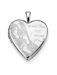 925 Sterling Silver 20mm Footprints Heart Photo Pendant Charm Locket Chain Necklace That Holds Pictures Fine Jewelry For Women Gift Set
