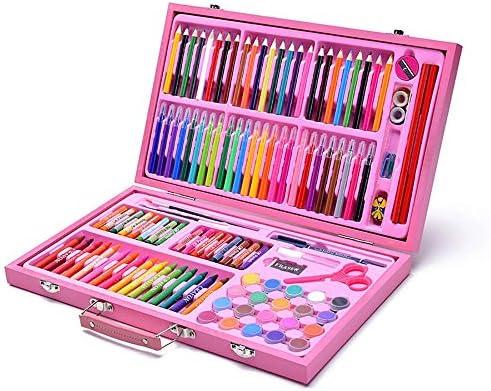 Wasser Farbstift Für Kinder und Erwachsene Schreibwaren für Kinder Set Buntstifte Sketch Set Making Gifts Geschenke für Kinder (Color : Pink, Size : Free Size)