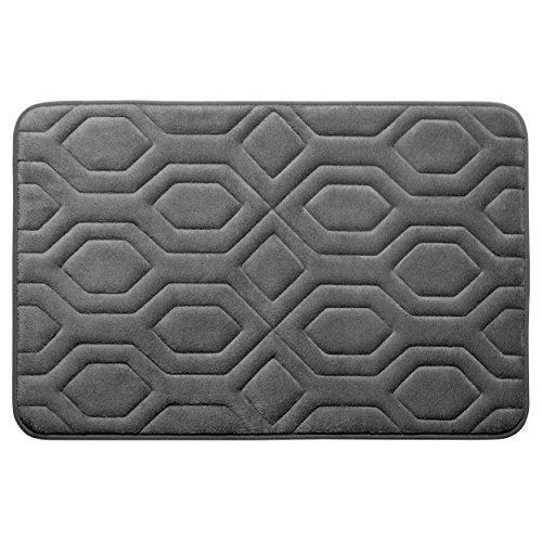 Bounce Comfort Extra Thick Memory Foam Bath Mat - Turtle Shell Premium Micro Plush Mat with BounceComfort Technology, 20 x 32 in. Dark Grey -  YMF Carpets, Inc., YMB003746