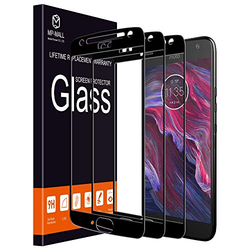 [3-Pack] MP-MALL Screen Protector for Moto X4, [Tempered Glass][Full Cover] for Motorola Moto X4 with Lifetime Replacement Warranty