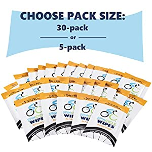 Spin Cycle Degreaser and Cleaning Bicycle Wipes, Safe for Bike and on Skin, Individually Packaged, 5 Count