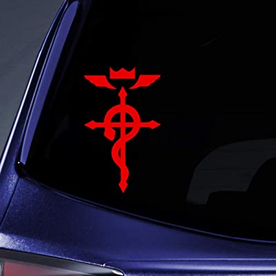 """Bargain Max Decals - Full Metal Anime Sticker Decal Notebook Car Laptop 6"""" (Red): Automotive"""