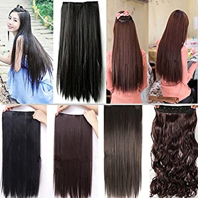 s-noilite colorful 8pcs clip in hair extensions 100% real natural