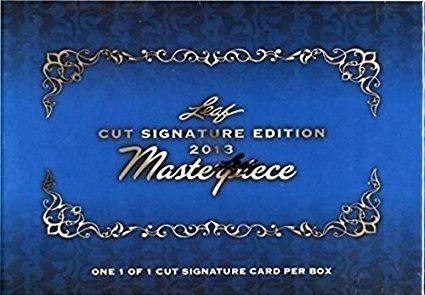 Leaf 2013 Masterpiece Cut Signature Edition Sealed Box 1 Autograph (1-of-1) Card Per