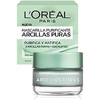 L'Oreal Paris Mascarilla Matificante, Arcillas Puras, 40 ml