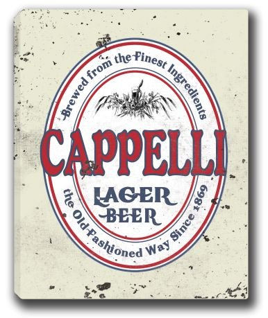 cappelli-lager-beer-stretched-canvas-sign-16-x-20