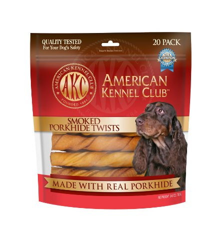 "AKC Porkhide Twists Smoked - 20 Pack - Medium (6"")"