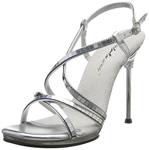 09 Chic Pleaser Argent Heels Mirroir Transparent Women's Silver Zgzzv5qw