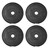 JLL Weight Plates 1' Vinyl Weights for Dumbbell/Weight Lifting Bars - 5kg, 7.5kg, 10kg in Sets of...