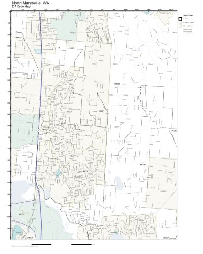 Marysville Wa Zip Code Map.Amazon Com Zip Code Wall Map Of North Marysville Wa Zip Code Map
