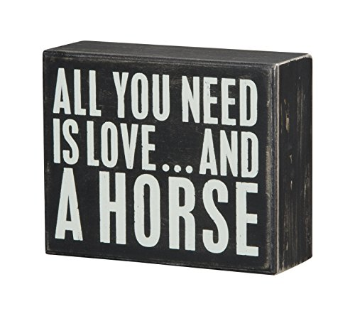 Primitives by Kathy Box Sign, 4-Inch by 5-Inch, A Horse