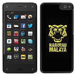 For Amazon Fire Phone Case , Harimau Malaya Tiger - Diseño Patrón Teléfono Caso Cubierta Case Bumper Duro Protección Case Cover Funda