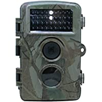 Trail Cameras, Hunting Game Camcorder 16/12/8/5MP Snapshot 1080P HD 25fps Recording, Infrared Light 125°Angle Detection 3 PIR Sensor 65ft Infrared Night Vision IP56 Outdoor Waterproof