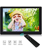 Digital Photo Frame,2019 Newest Digital Picture Frame YENOCK High Resolution Full IPS Photo/Music/Video Player Calendar Alarm Remote Control