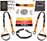 Resistance Straps Trainer Bundle   Complete BodyWeight Training Straps Kit + Wall Mount Bracket + 3 Exercise Loop Bands   Five Anchoring Solutions with Easy Setup for Home, Gym & Outdoors Workouts