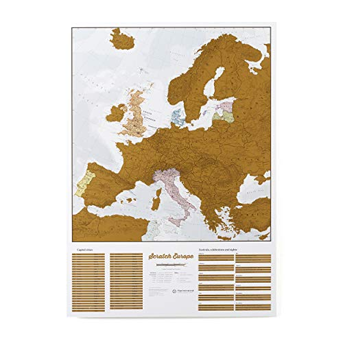 Scratch Off Map Of Europe - Color Europe Wall Map - Scratch Off - 33 x 23