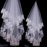 Velo de gasa de boda para novia Viskey, style-1, talla única