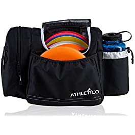 Athletico Disc Golf Bag – Tote Bag for Frisbee Golf – Holds 10-14 Discs, Water Bottle, and Accessories