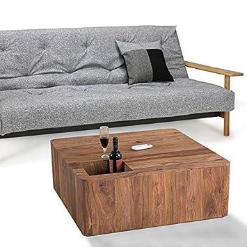 Lounge Zone Sheesham Couchtisch Kaffeetisch Wohnzimmertisch Sofatisch Wohnzimmer  Beistelltisch Tisch PENAALI Modernes Design Massivholz Holz
