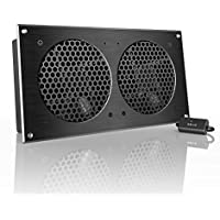 AC Infinity AIRPLATE S7, Quiet Cooling Fan System 12 with Speed Control, for Home Theater AV Cabinets