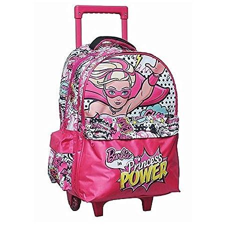 Barbie - Mochila con ruedas Barbie Princess Power 43 cm Trolley: Amazon.es: Oficina y papelería