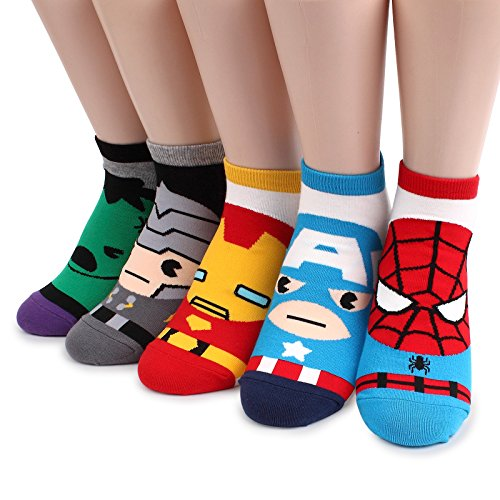 Intype Marvel Heroes DC comics Licensed Socks Collection with Pouch (Women's Lowcut (Marvel Heroes Costumes Uk)