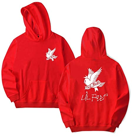Lil Peep Hoodies Love Hooded Pullover Sweatershirts Sudaderas cry Baby Hood Hoddie Sweatshirts at Amazon Womens Clothing store: