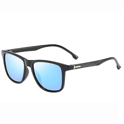 Chlyuan - Gafas de Sol Azules con Bloqueo, Estilo Retro ...