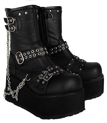399a6b9631d Amazon.com | SharpSpirit Gothic Lace Up Skull Steampunk Lolita Punk ...
