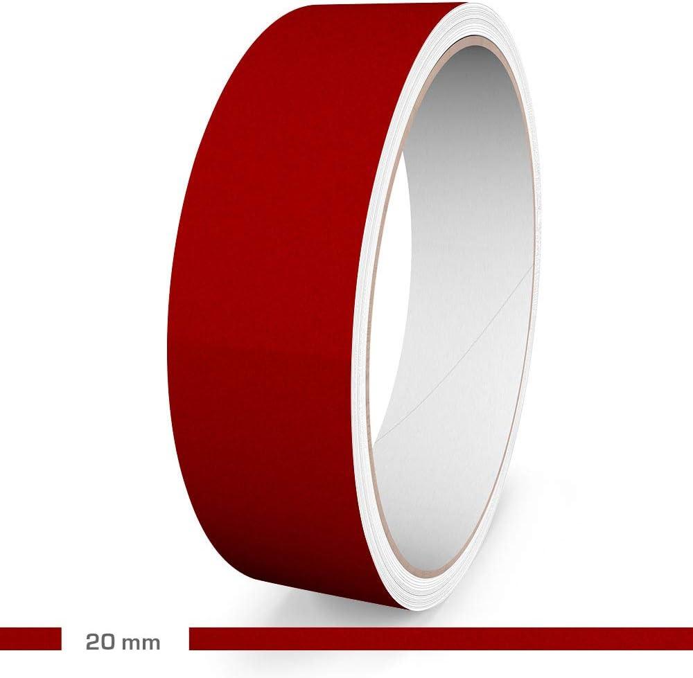 10 m L/änge 20 mm Breite Reflektierend Rot Motoking Zierstreifen Aufkleber Folie Auto Boot Motorrad Wohnmobil Wohnwagen /& mehr