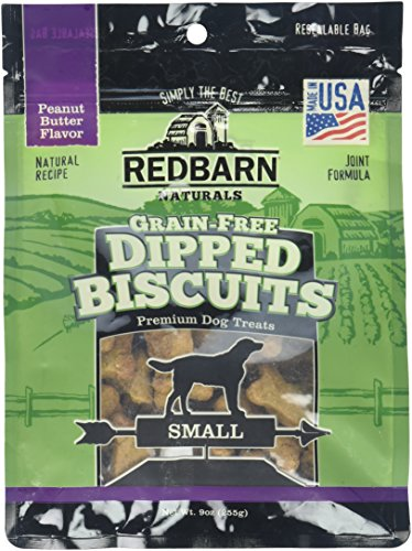 Redbarn 9 Oz/Small Peanut Butter Grain Free Dipped Biscuits (1 Pack), One Size