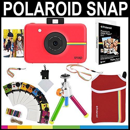 Polaroid Snap Instant Camera (Red) + 2x3 Zink Paper (20 Pack) + Neoprene Pouch + Photo Frames + Accessory Bundle [並行輸入品]   B01MYAWZYI