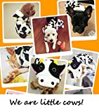 Onmygogo Cow Costumes for Dog and Cats, Pet Clothes Dress for Halloween and Christmas (XL)