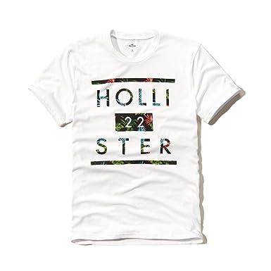 Hollister - Camiseta - para Hombre Blanco Blanco Medium: Amazon.es ...