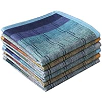 Mens Luxury 100% Cotton Handkerchiefs Plaid Pack