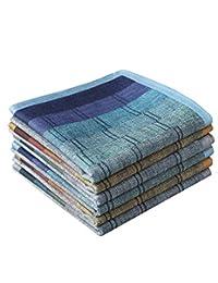 LACS Handkerchiefs Pañuelos de algodón Suave para Hombre, Estilo Lujoso, Mix, 6 Piezas