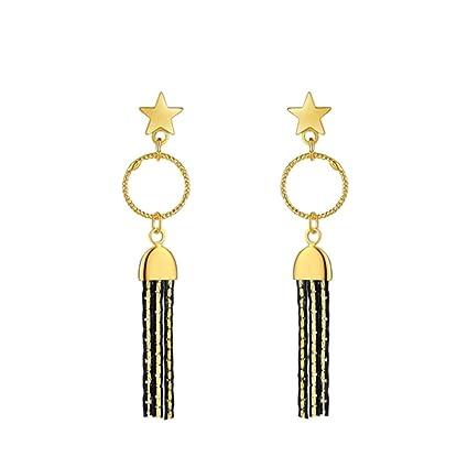 YOYOYAYA Aretes Estrellas Borlas Círculos Mujeres Niñas Adornos Exquisito Partes Fechas Elegancia Regalos