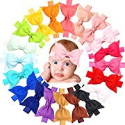 20pcs Baby Girls headbands With 4  Hair Bows Soft Band for Infant Newborn Toddlers