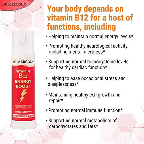 Dr Mercola Vitamin B12 Energy Booster (25ml Cherry Flavour): Amazon.es: Salud y cuidado personal