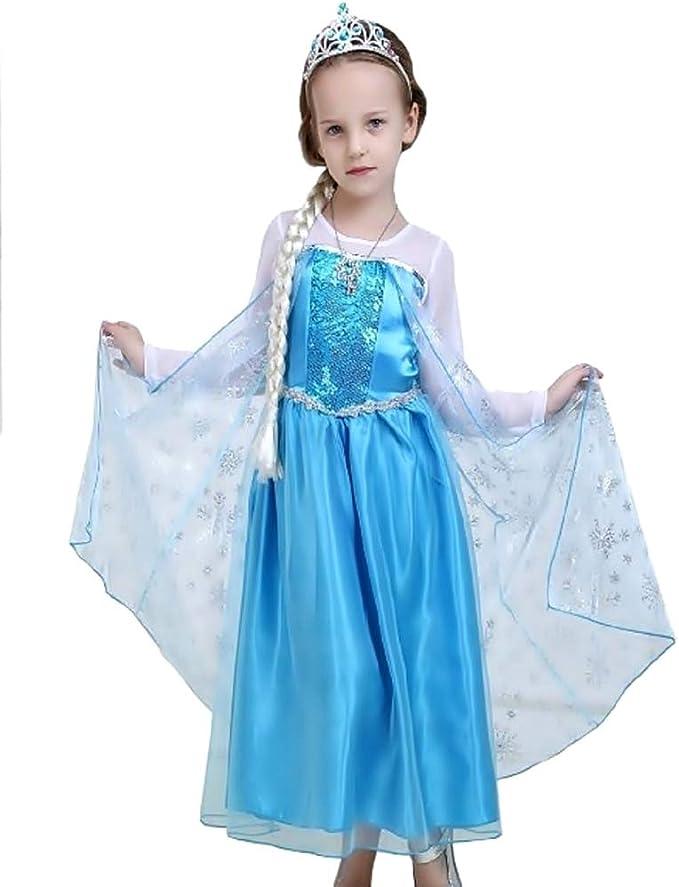 Disfraz de Elsa - carnaval - halloween - niña - clásico - talla ...