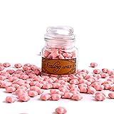 TELOSMA A Bottle of Star Sealing Wax Beads for Wax Stamp Seals, 100pcs,Pink