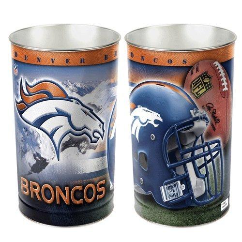 Denver Broncos Wastebasket (Wincraft Metal)