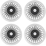 Speedwav Car 12 Inch RUS-D Design Wheel Cap Set of 4 Silver & Black-Maruti Zen Old