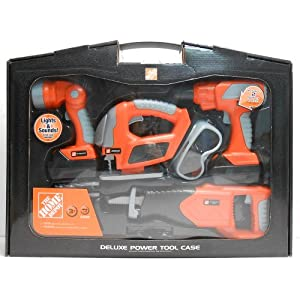 home depot the home depot deluxe power tool set toy toys games. Black Bedroom Furniture Sets. Home Design Ideas