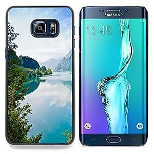 - Tourquise Blue Lake - - Cubierta del caso de impacto con el patr??n Art Designs FOR Samsung Galaxy S6 Edge Plus Queen Pattern