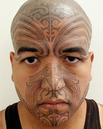 Maori Warrior Moko Temporary Face Tattoo Makeup Kit - Set of 2 Complete Kits