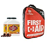 Army Food (360 Tabs/Chocolate) for 30 Days and Adventure First Aid 1.0 constant treat for cut sprains insect bites headaches muscle aches, allergic reactions (Kit for 1-2 people)